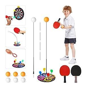 Bivan Tischtennis Trainer, Kinder Tragbares Tischtennis-Set Mit Weichem Schaft Für Selbsttrainin, Freizeit…