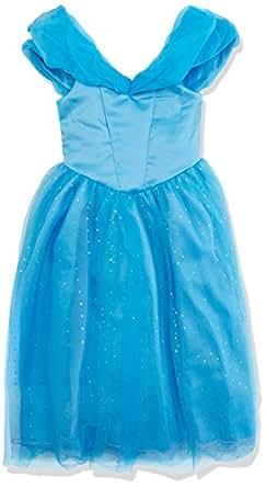 ReliBeauty-abito da bambina motivo principessa Cinderella Maxi, Blu,2-3 anni