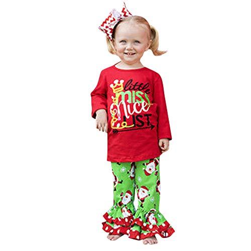 Beikoard Weihnachtskleidung Taufbekleidung Bekleidungssets 2 Stücke Tops Hosen -