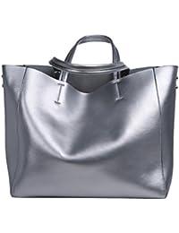 Dissa Q0602 femme sac à main cuir solide Sacs portés main,34x31x15cm (L x H x T)