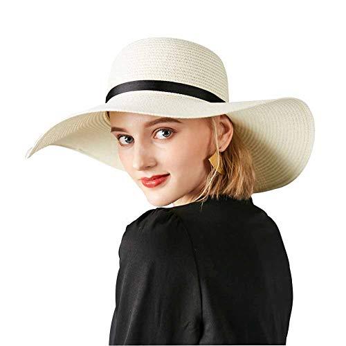 SIYWINA Strohhut Damen Sonnenhüte UV Frauen Hut Strandmütze Sommer Strand Kappe Wide Rand Outdoor Aktivitäten