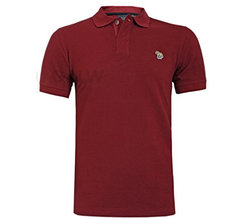 Paul Smith MEN'S ZEBRA POLO T SHIRT BLACK, BURGUNDY, GREY, NAVY S/M/L/XL/XXL Regular Fit