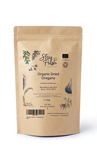 100g Organic Oregano by Stay Fresh Organics - Certified By Soil Association - Resealable Pouch