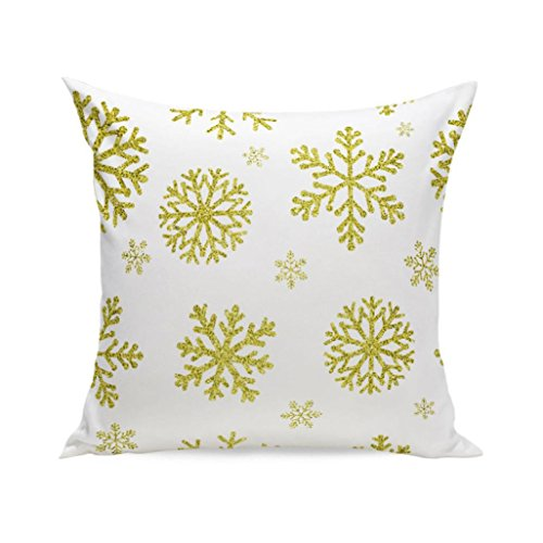 Kissenbezüge Longra Weihnachten Super Soft Quadrat TSofa Bett Home Decor Kissen Kissenbezüge decken Kissenhülle (45cm*45cm) (E) (Quadrat Bett, Kissen)
