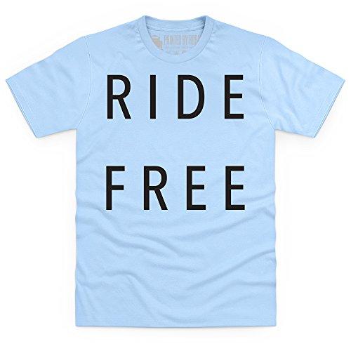 Ride Free T-Shirt, Herren Himmelblau