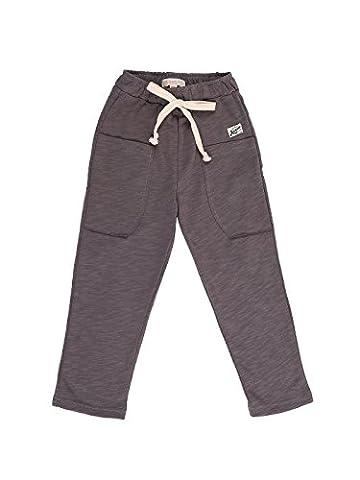 Oceankids Gris Foncé Pantalon Slack De Jogging Décontracté En Tricot Coton Taille Elastiquée Garçon 5-6 Ans