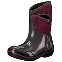 BOGS Womens Plimsoll Quilted Floral Mid-W Plimsoll Quilted Floral Mid-w