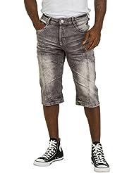 Pantalones cortos hombre - Gris Shorts vaqueros hombre por la Rodilla KURT