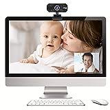 Huhuswwbin Microfono Lavalier Microfono,Webcam Hd 720p Con Fotocamera Integrata...