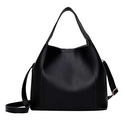 Damen Handtaschen Geldbörsen Taschen Mode Schultertasche Messenger Bag Black