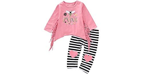 b2322e4ff1e0 Chennie 2Pcs Baby Girls Toddler Bee Cartoon Outfit Long Sleeve ...