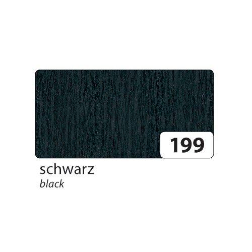 folia KreppPapier, B500 mm x L2, 5 m, schwarz 820199