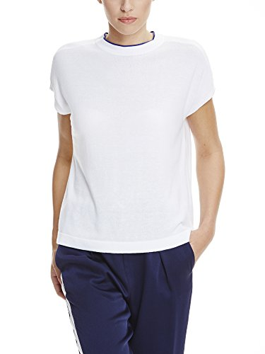 Bench Knitted, T-Shirt Donna Weiß (BRIGHT WHITE WH11185)