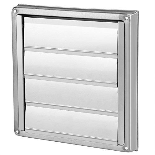 Griglia ventilazione valvola ventilatore da 100 mm griglia di scarico dell'aria ventilatore in acciaio inox parete di uscita quadrato sfiatatoio quadrato estrattore di asciugabiancheria