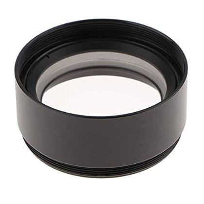 """Baoblaze 0.7X Lente Objetiva Auxiliar Barlow para Microscopio Estéreo 1-7/8""""M48x0.75 WD120"""