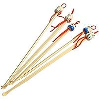 Semine 10 piezas hechas a mano oreja de bambú limpio hermosa muñeca cabeza Decor limpiador de madera
