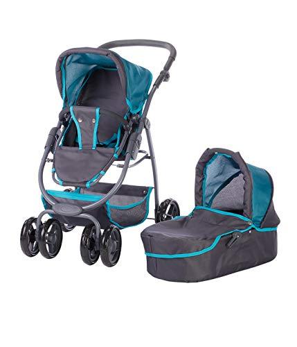 Knorr Toys 90784 - Passeggino per Bambole Coco 90784, Colore: Petrolio