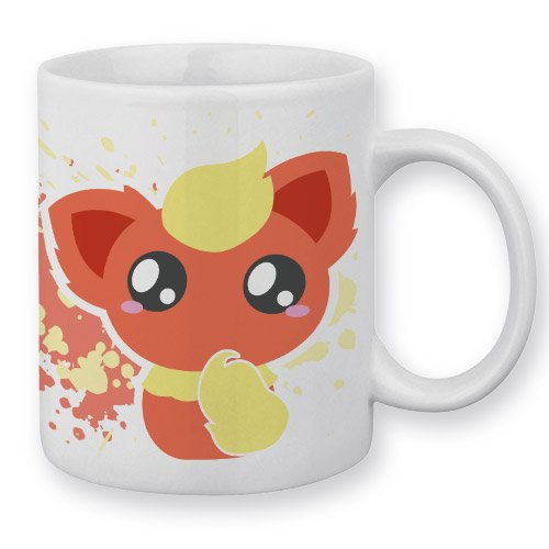 Mug Pyroli / Flareon (Pokemon) Chibi et Kawaii by Fluffy Chamalow - Fabriqué en France - Chamalow Shop