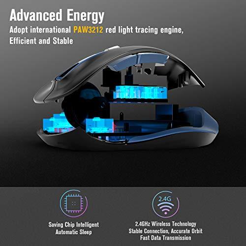 Zoom IMG-2 tedgem mouse wireless per laptop