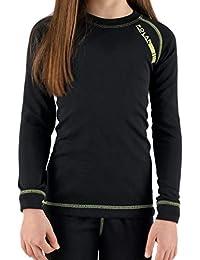 Camiseta térmica para niña de manga larga, ideal para deportes de invierno o situaciones de