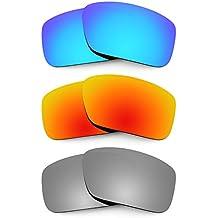 Revant Combo de 3 pares de lentes polarizados, de reemplazo, para Arnette Big Deal