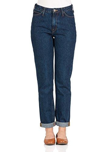 Lee Damen Jeans Mom - Straight Fit - Blau - Dark Stone, Größe:W 27 L 33, Farbe:Dark Stone (ZT) - Lee Wrangler-jeans
