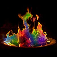 The Glowhouse pack of 12 Magic Neon Flames Fire Colourant Mystical Colour Changing Flame