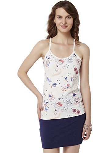 Chumbak Womens Body Blouse T-Shirt (CWC006 XL_White_XL)
