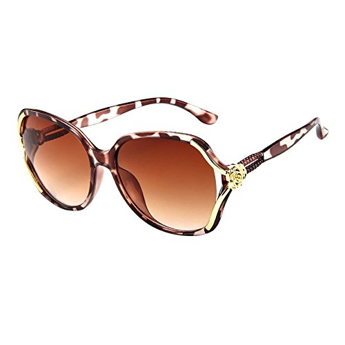 Honestyi Mens Womens Rose Big Frame Retro Vintage Sonnenbrillen Brillen Box