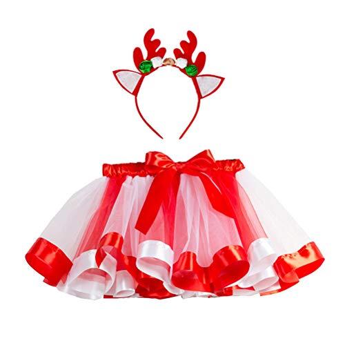 Kostüm Mädchen Einzigartige Kleine - Amosfun Halber Tutu Rock mit Hirsch Stirnband Baby Mädchen Prinzessin Party gefallen