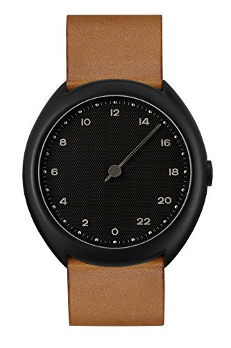 slow O 11 - Brown Vintage Leather, Black Case, Black Dial Analog Leder Braun slow O 11