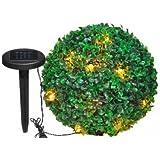 2 Boules de buis solaire en PVC - 20 Lampes Technologie ...