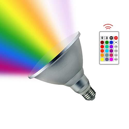 LED RGB Lampe mit Fernbedienung,Susutemly 20W E27 Base LED Glühlampen Birne Farbwechsel Lampe dimmbare Leuchtmittel mit RGB und Kaltweißem Licht 1800 Lumen AC 85V - 265V Wasserdicht IP65 -