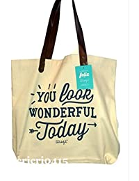 Mr. Wonderful You Look Wonderful Today Bolso, Color Beige