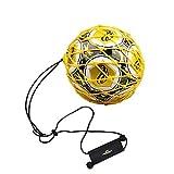 PodiuMax Griff Solo Fußball-Tritt-Trainingsgeräte mit neuem Ball-Locked Design für Tornetz, Fußball Bungee Elastic Training Jongliernetz (passend für Ballgröße 3, 4, 5)