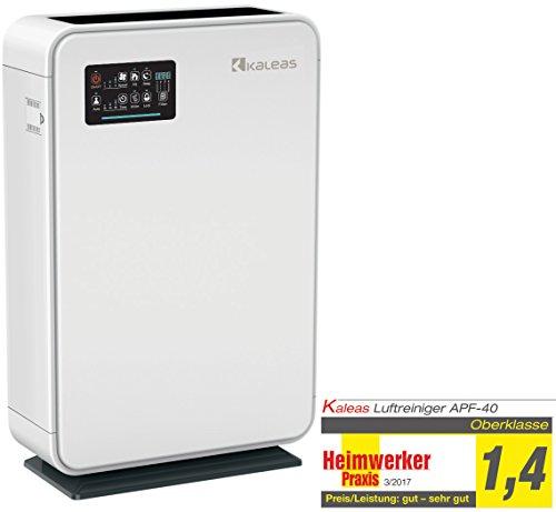 Kaleas APF-40 HEPA Air Purifier Luftreiniger Ionisierer mit HEPA- / Aktivkohle- / Kohle- / Grob-Filterpaket gegen Hausstaub, Feinstaub, Pollen, Hausstaubmilben, ideal für Allergiker und Asthmatiker (63140)