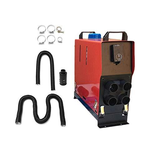 8Eninise 12v 5000w Air Diesel Calefactor 4 Agujeros Monitor Digital Display Interruptor Rojo