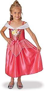 Princesas Disney - Disfraz de Bella Durmiente con lentejuelas para niña, infantil 7-8 años (Rubie