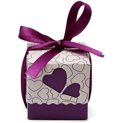FACILLA®50 x Cajas Cajitas para Bombones Caramelo Boda Party Nuevo