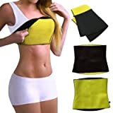#10: Saundarya Sweat Shaper Belt, Slimming belt, Waist shaper, Tummy Trimmer, Sweat slim belt, Belly fat burner, Stomach fat burner, Hot shaper belt, Best Quality, Super stretch, Unisex body shaper for men & women, Sizes L, XL, XXL and 3XL (consider stomach size)