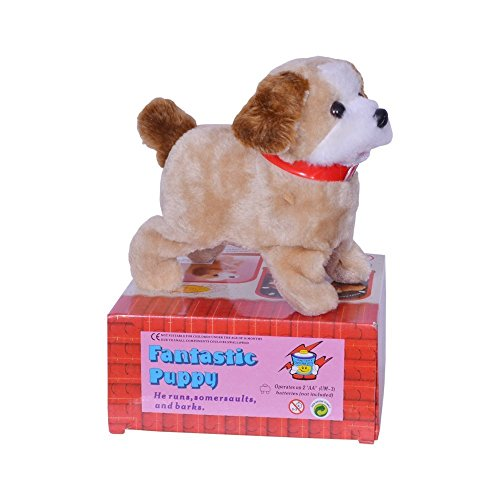 Fantastic Super Cute Puppy - Flips, Turns, Runs and Barks - Battery Operated Soft Toys