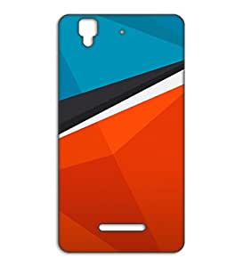 Happoz plain pattern Micromax Yu Yureka accessories Mobile Phone Back Panel Printed Fancy Pouches Accessories Z288