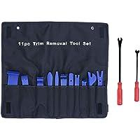 Hemobllo Herramienta de eliminación de recortes automática con removedores de sujetadores Kit de herramienta de panel de puerta fuerte de nylon con bolsa (azul)