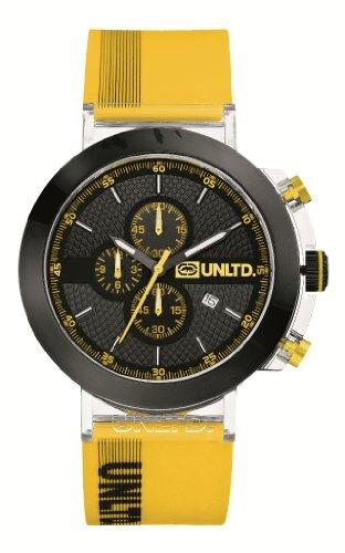 Marc Ecko E17516G2 - Reloj analógico de cuarzo para hombre, correa de silicona color amarillo