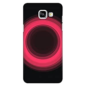CrazyInk Premium 3D Back Cover for Samsung A5 2016 - Pink Glowing CIrcle