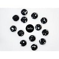 Magneten Set schwarz weiß Klekse Herr Fuchs Typo 8 Stück