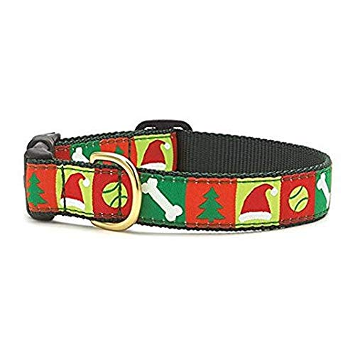Up Country Hundehalsband mit weihnachtlichem Muster (L) (Rot/Grün) (Up Country Hundehalsbänder)