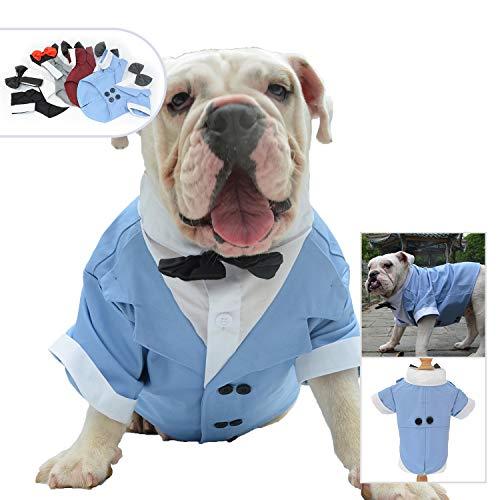 kostüm für Hunde, formelle Smoking mit schwarzer Fliege für kleine mittelgroße und große Hunde ()