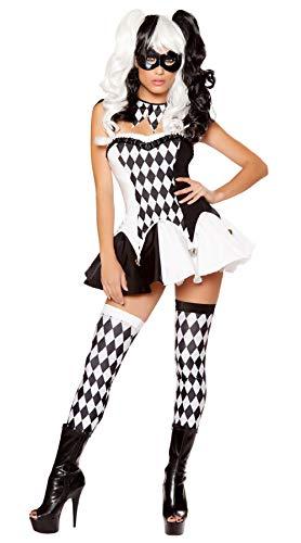 Hnjing lingerie sexy nuovo costume da clown divertente sexy costume da arlecchino birichino uniforme per adulti costumi di halloween per donna