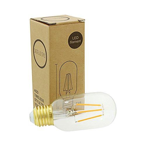 Castello Stil Radio Ventil Eichhörnchen Käfig Filament LED Leuchtmittel Edison Schraube-Warm Glow -